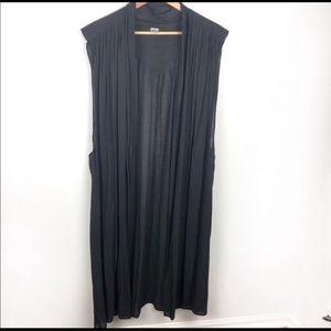 Jackets & Blazers - Long open front vest